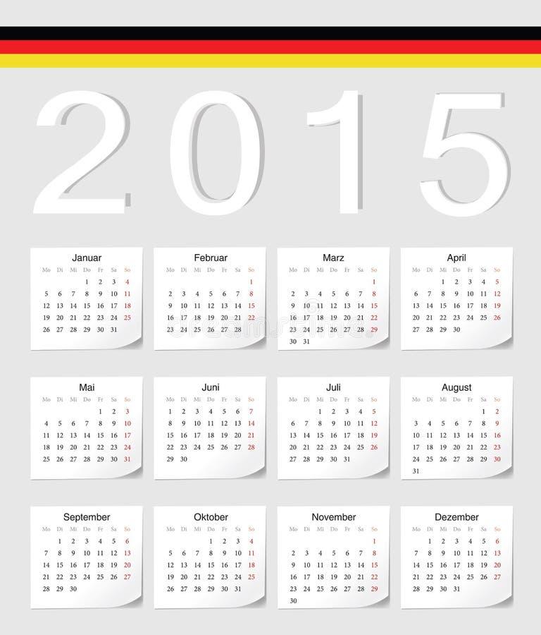 Niemiec 2015 kalendarz ilustracji