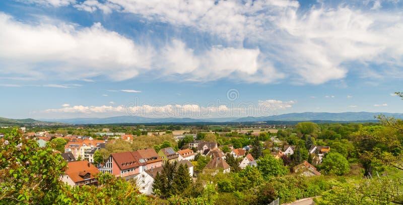 Niemiec krajobraz blisko Breisach, Baden-Wurttemberg - zdjęcie royalty free