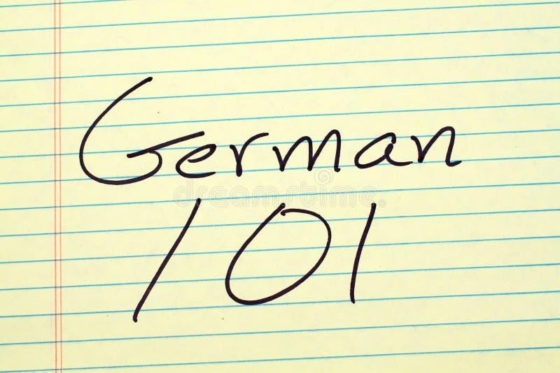 Niemiec 101 Na Żółtym Legalnym ochraniaczu obraz royalty free