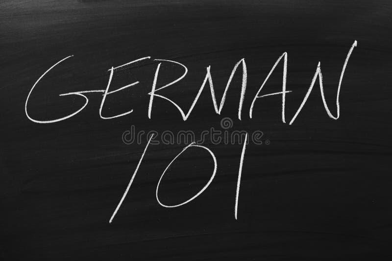 Niemiec 101 Na Blackboard zdjęcia stock
