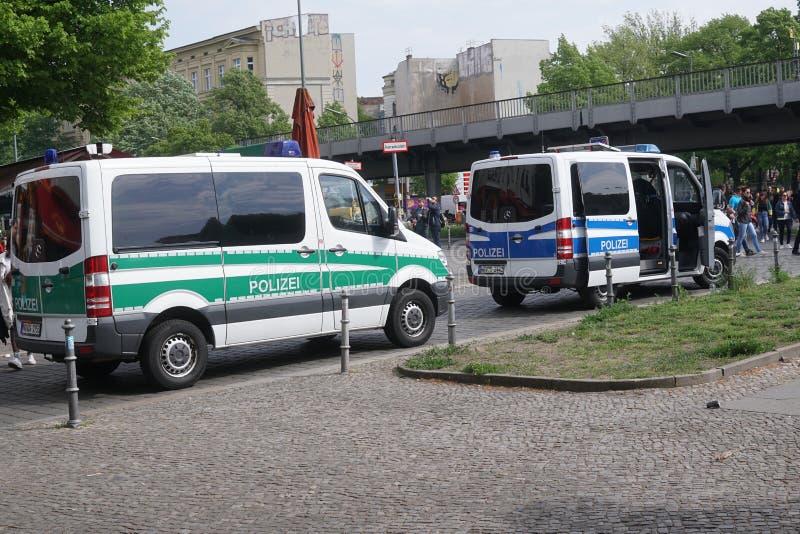Niemiec policja przewozi samochodem obraz stock