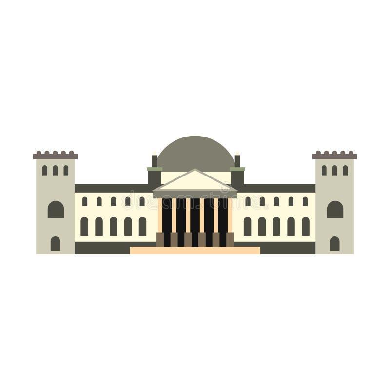 Niemiec Reichstag budynku ikona, mieszkanie styl royalty ilustracja