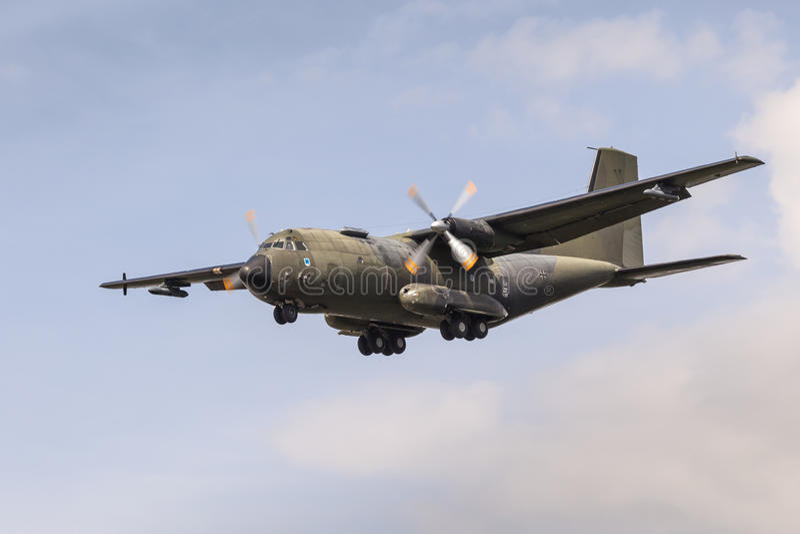 Niemiec Transall C-160 samolot wojskowy zdjęcia royalty free