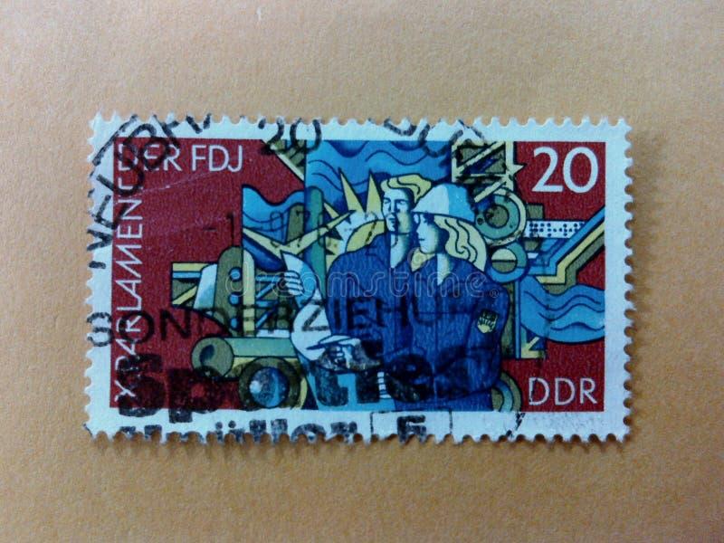 Niemieccy poczta znaczki fotografia stock