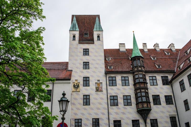 Niemiecka ?redniowieczna architektura w Munich zdjęcia stock