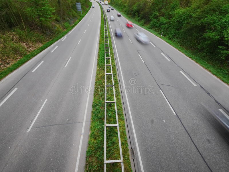 Niemiecka Autobahn plama zdjęcia royalty free