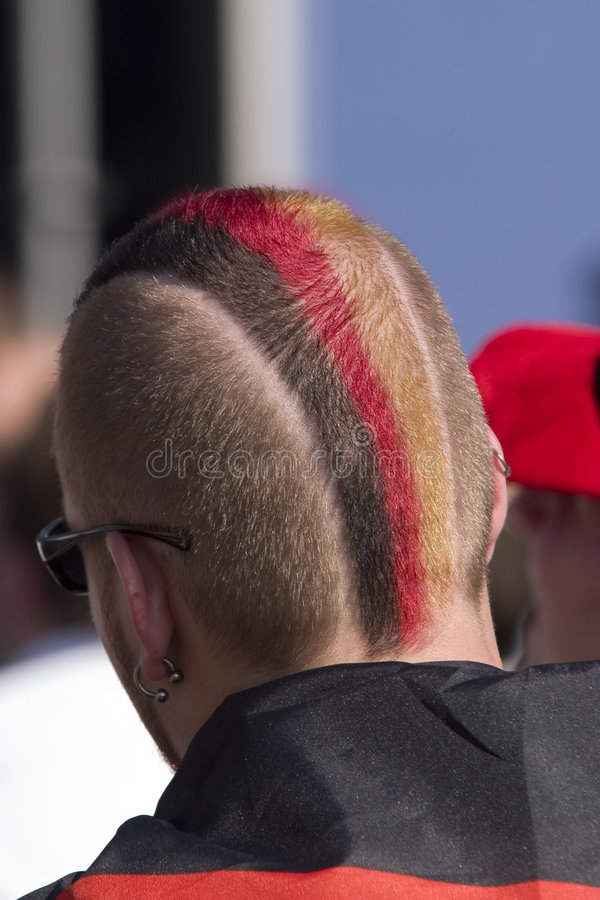 niemiecka bandery fryzurę obraz royalty free