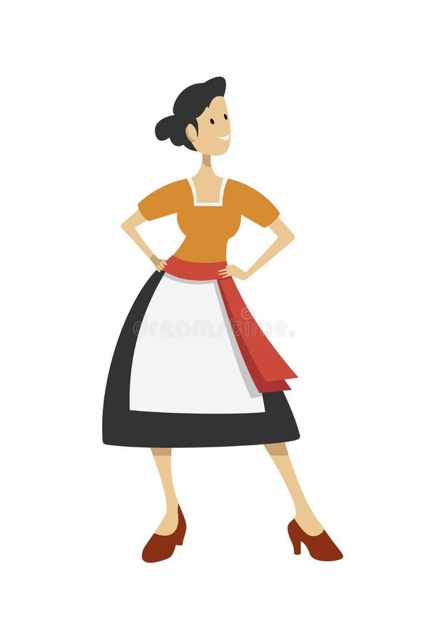 niemiecka dziewczyna ilustracja wektor