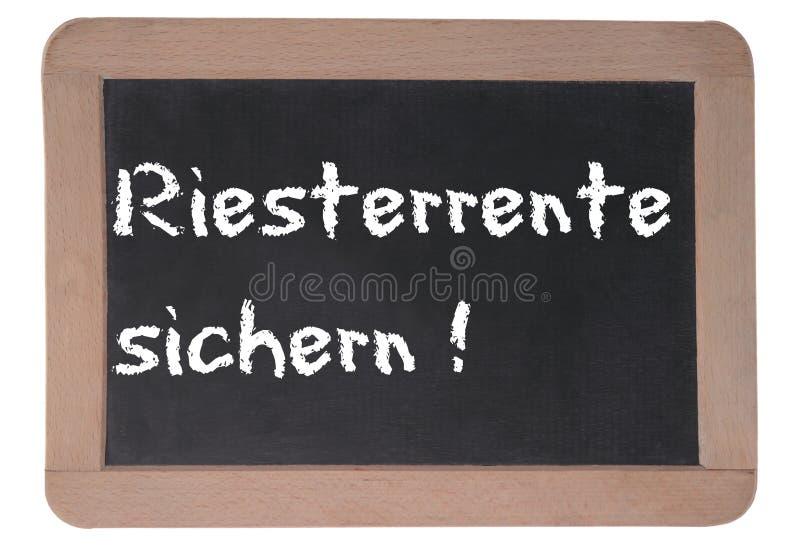 niemiecka emerytura zdjęcie stock