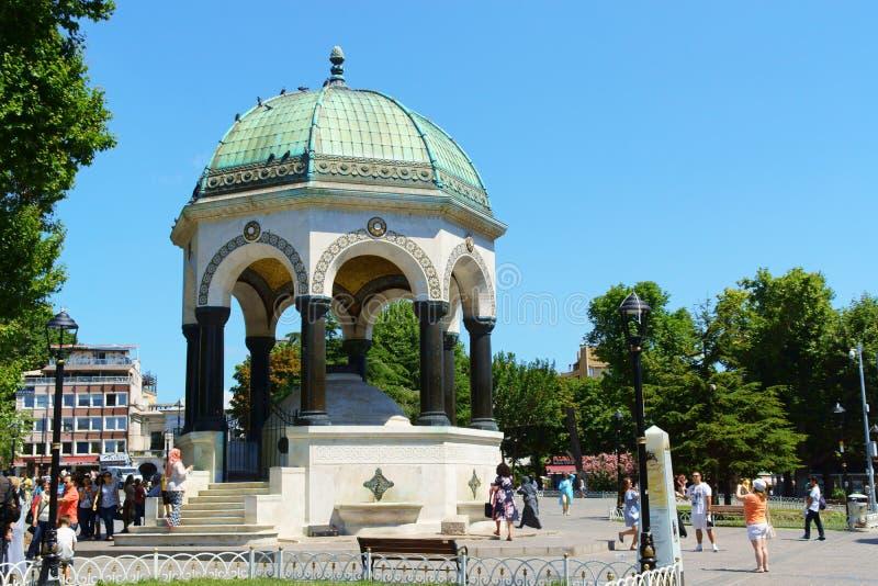 Niemiecka fontanna w sułtanu Ahmet kwadracie, Istanbuł, Turcja zdjęcie stock