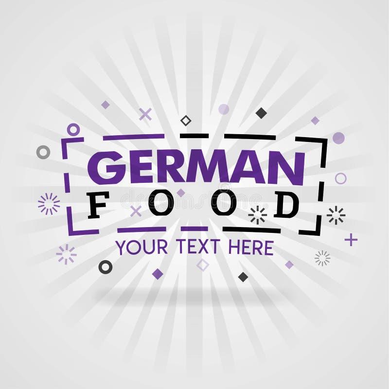 Niemiecka karmowa książkowa ilustracja z tematem zdrowi kulinarni przepisy i domowy kucharstwo ilustracja wektor