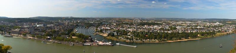 Niemiecka Narożnikowa panorama zdjęcie royalty free