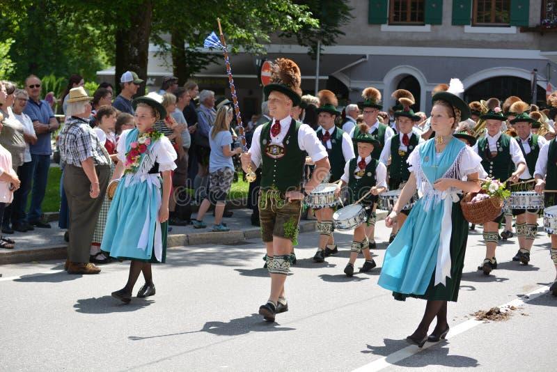 Niemiecka parada w Bavaria obraz stock
