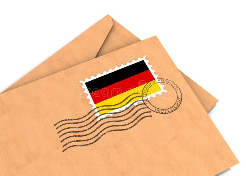 Niemiecka Poczta Fotografia Stock