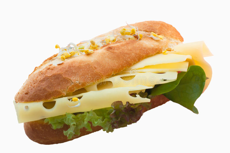 Niemiecka serowa kanapka obrazy stock