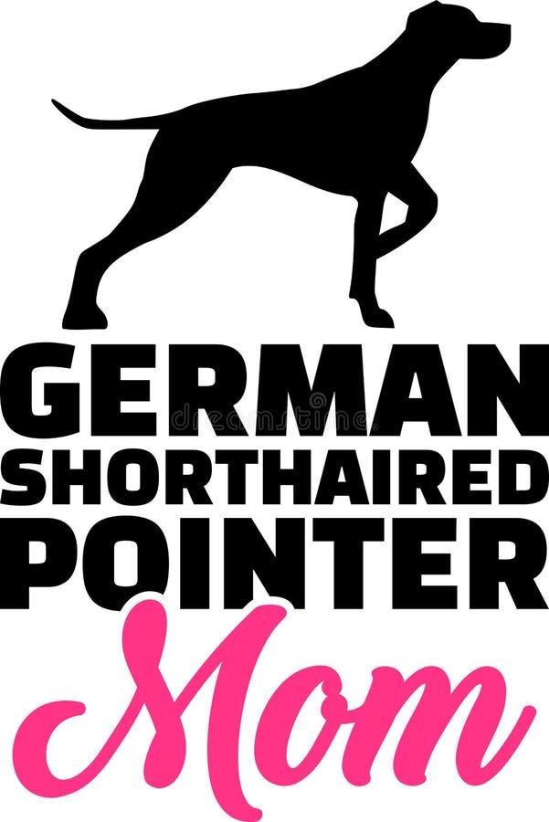 Niemiecka shorthaired pointeru mama ilustracji
