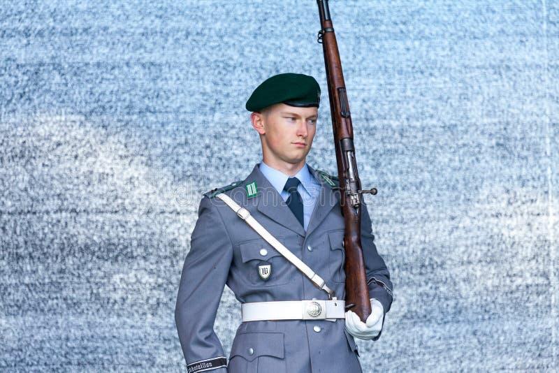 Niemiecki żołnierz od strażowego batalionu obrazy stock