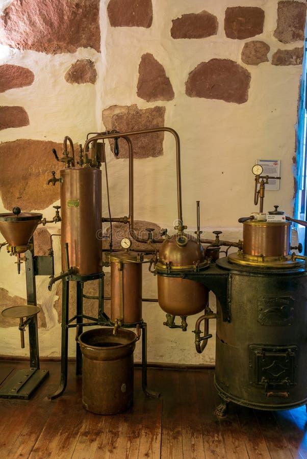 Niemiecki Apothecary muzeum wśrodku Heidelberg pałac obrazy royalty free