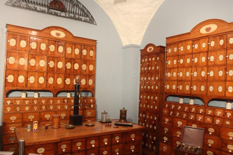 Niemiecki apteki muzeum, Heidelberg obrazy stock