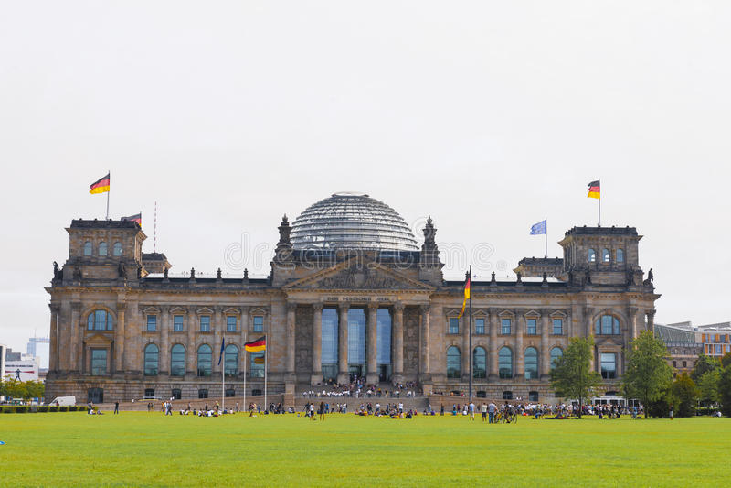 niemiecki Berlin parlament Bundestag Germany obraz stock