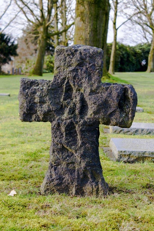 Niemiecki cmentarniany friedhof w Flanders polach menen Belgium fotografia stock