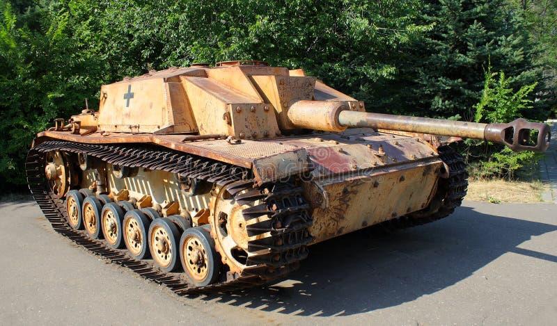 Niemiecki cysternowy broni wojska fascism fotografia stock