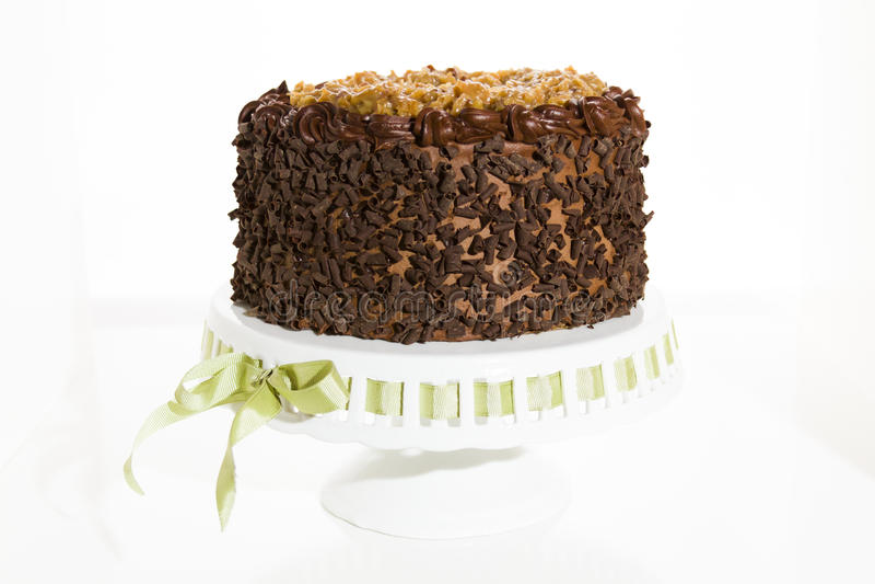 Niemiecki czekoladowy tort obrazy royalty free