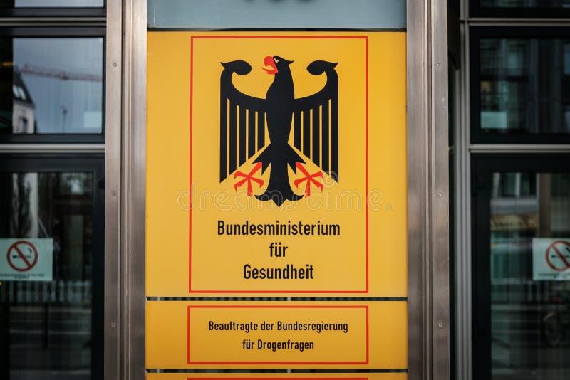 Niemiecki federacyjny ministerstwo zdrowia Bundesministerium fuer Gesundheit w Berlin fotografia stock