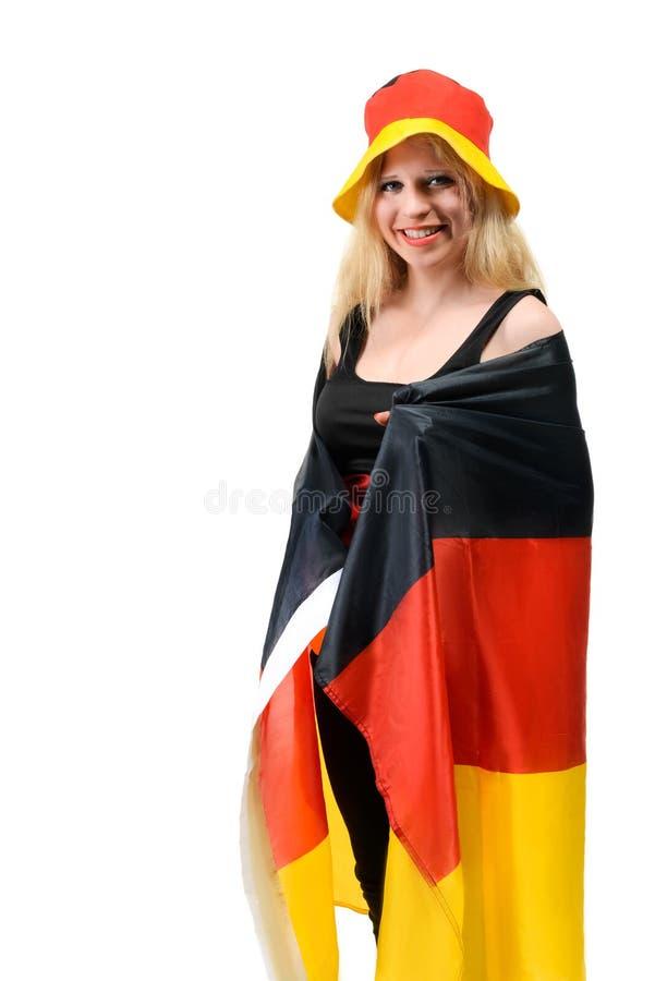 Niemiecki footbal fan fotografia royalty free