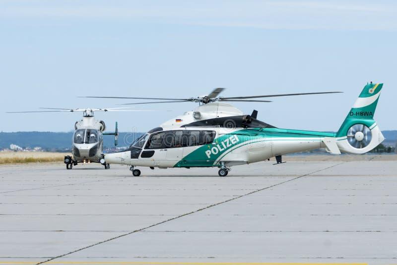 Niemiecki helikopter policyjny obraz stock