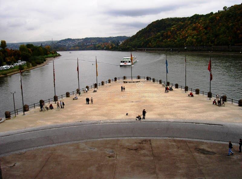 Niemiecki kąt w Koblenz fotografia stock