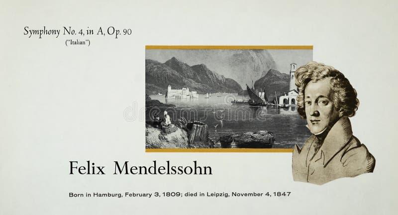 Niemiecki kompozytor Felix Mendelssohn obrazy royalty free