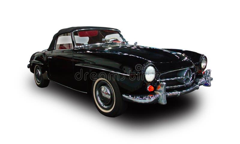 Niemiecki luksusowy retro samochód Biały tło obraz royalty free