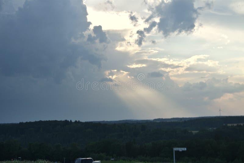 Niemiecki niebo fotografia stock