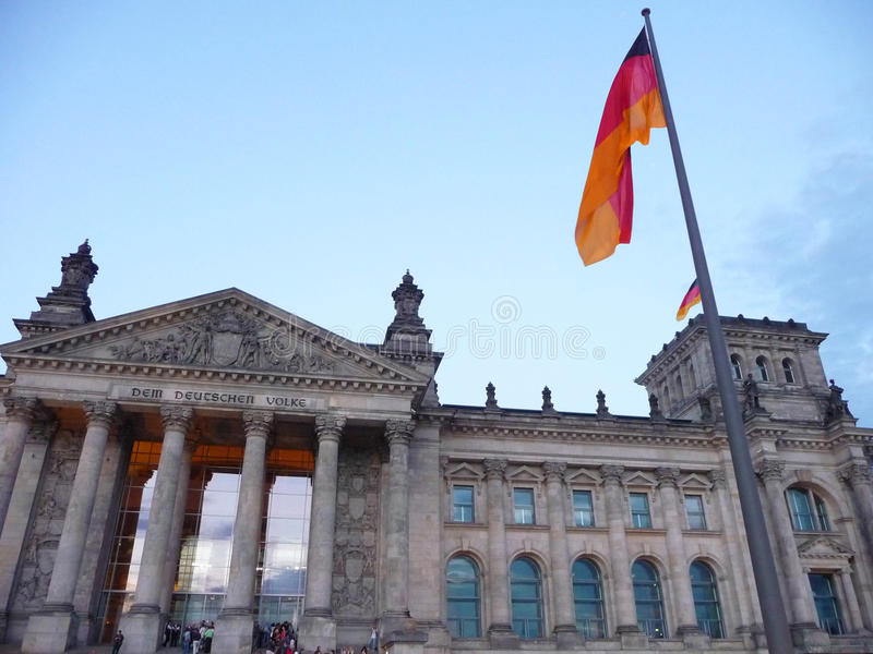 Niemiecki parlament - Berlin obraz royalty free