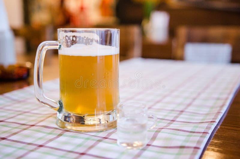 Niemiecki piwo i schnapps obraz royalty free