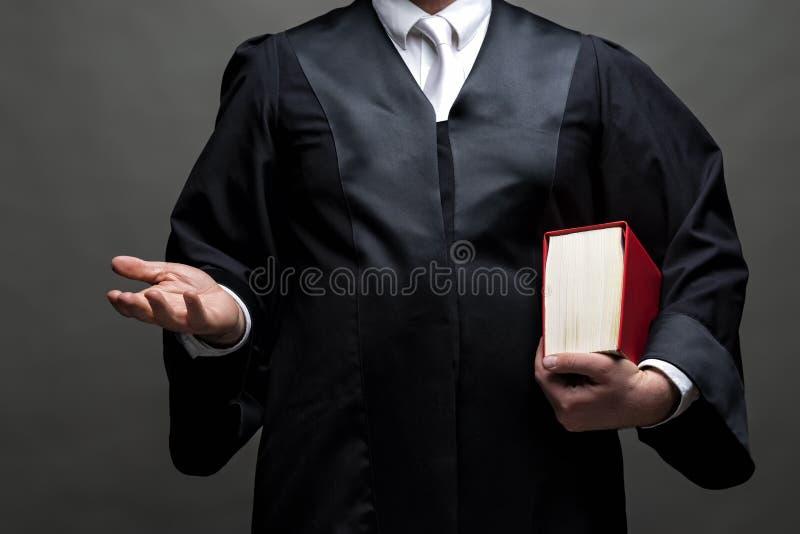 Niemiecki prawnik z kontuszem i ksi??k? zdjęcia royalty free
