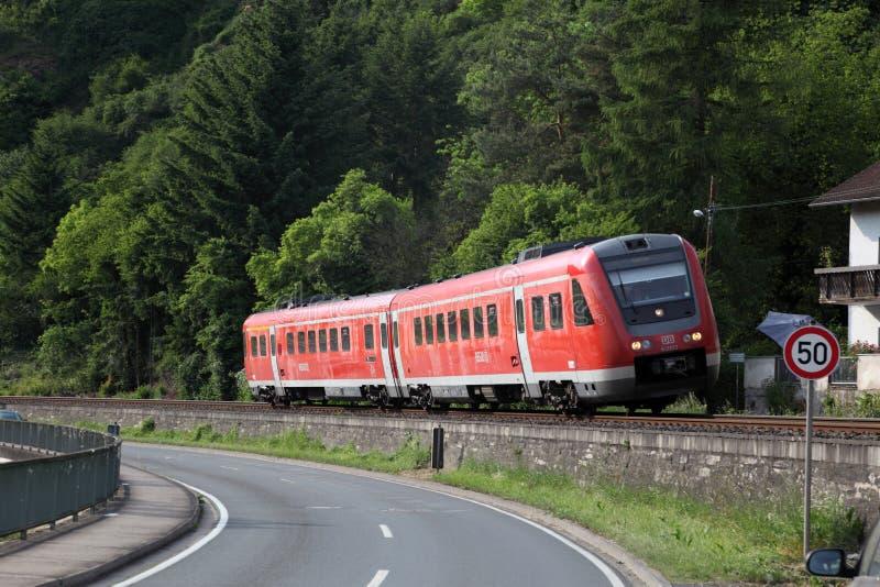 Niemiecki regionalność pociąg fotografia stock