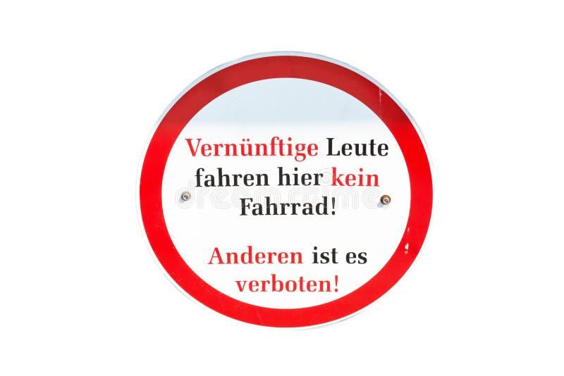 Niemiecki ruchu drogowego znaka przejście zakazujący ilustracja wektor