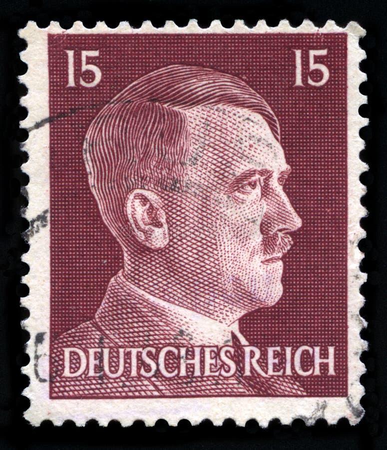 Niemiecki rzesza znaczek pocztowy od 1942 obraz stock