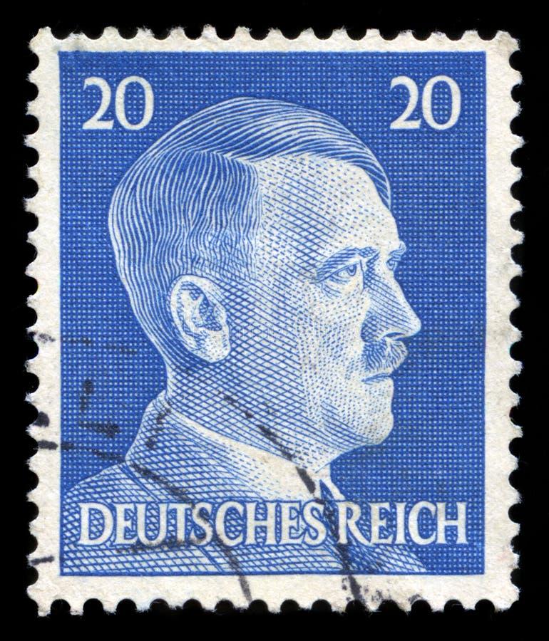Niemiecki rzesza znaczek pocztowy od 1945 zdjęcia stock