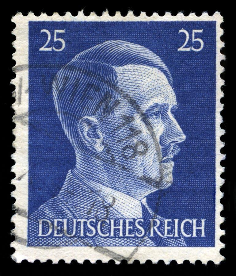 Niemiecki rzesza znaczek pocztowy od 1945 obraz stock