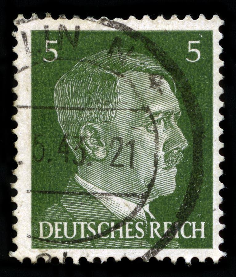 Niemiecki rzesza znaczek pocztowy od 1941 zdjęcie royalty free