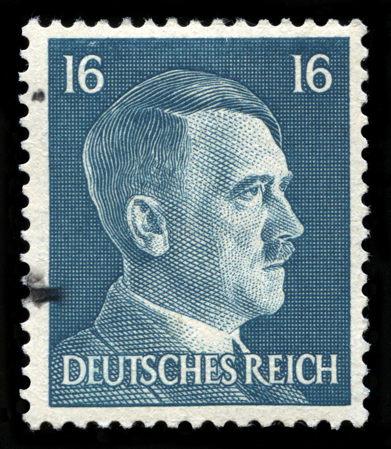Niemiecki rzesza znaczek pocztowy od 1942 fotografia stock