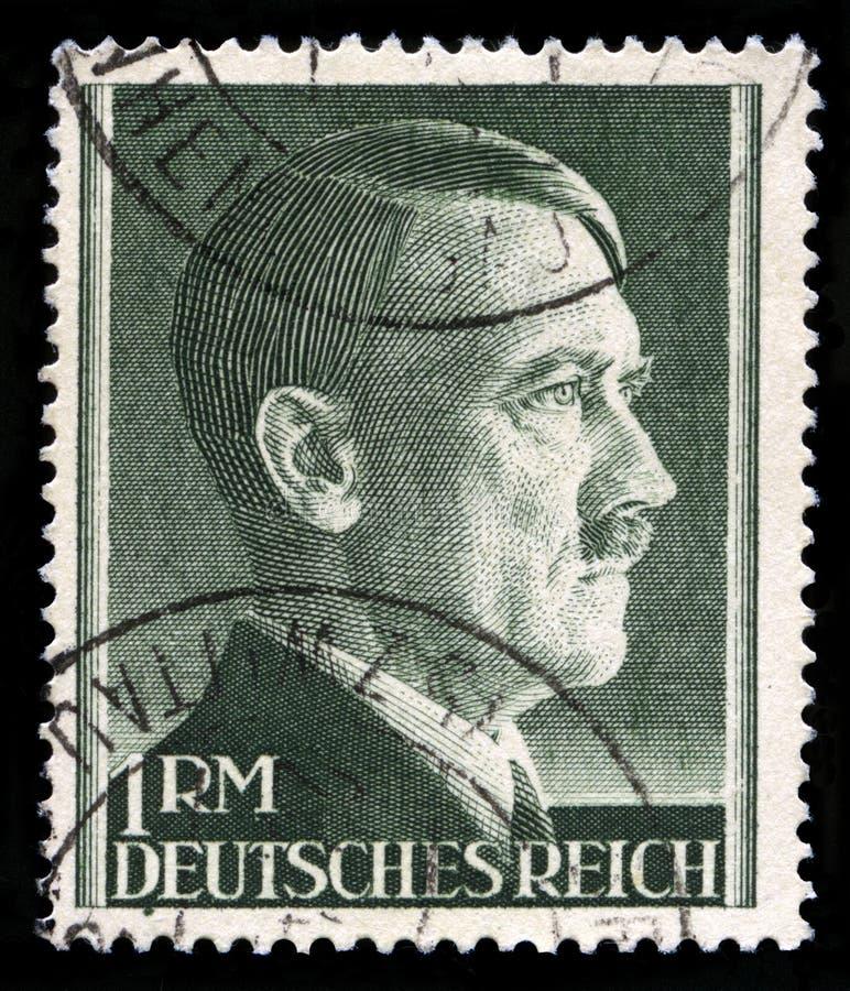 Niemiecki rzesza znaczek pocztowy od 1945 zdjęcie royalty free