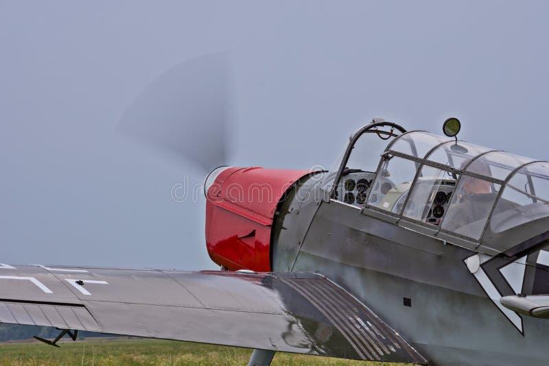 Niemiecki samolot szturmowy od drugiej wojny światowa zdjęcia stock
