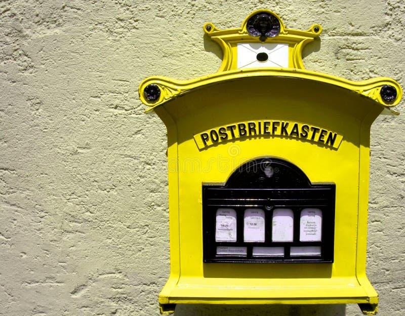niemiecki sektor pocztę żółty fotografia royalty free