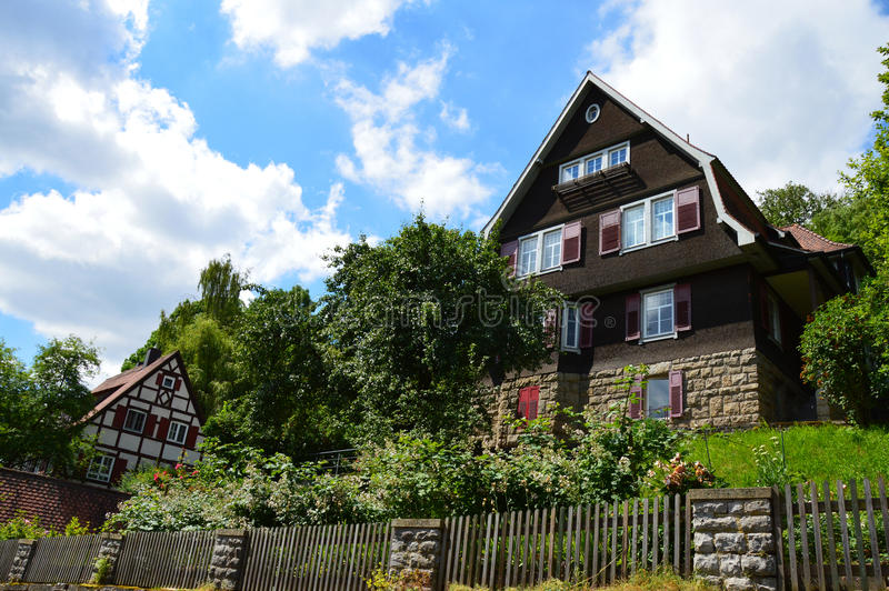 Niemiecki Szwabski domu projekt obraz stock