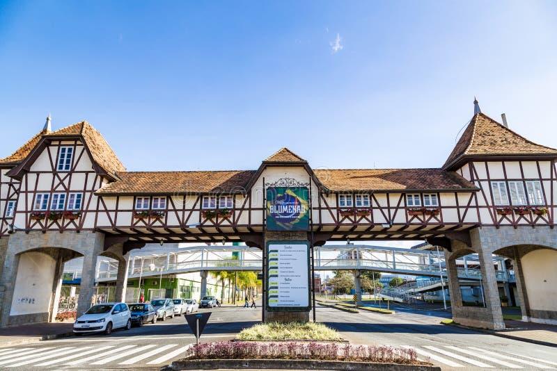 Niemiecki wioska park, Blumenau Santa Catarina, Brazylia, - zdjęcie stock
