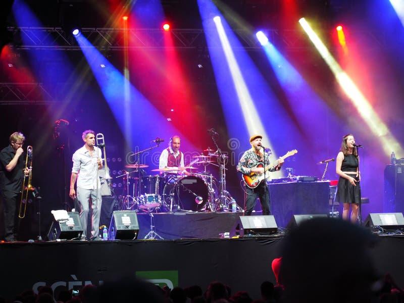 Niemiecki zespół Shantel & Bucovina klub Orkestar zdjęcie royalty free